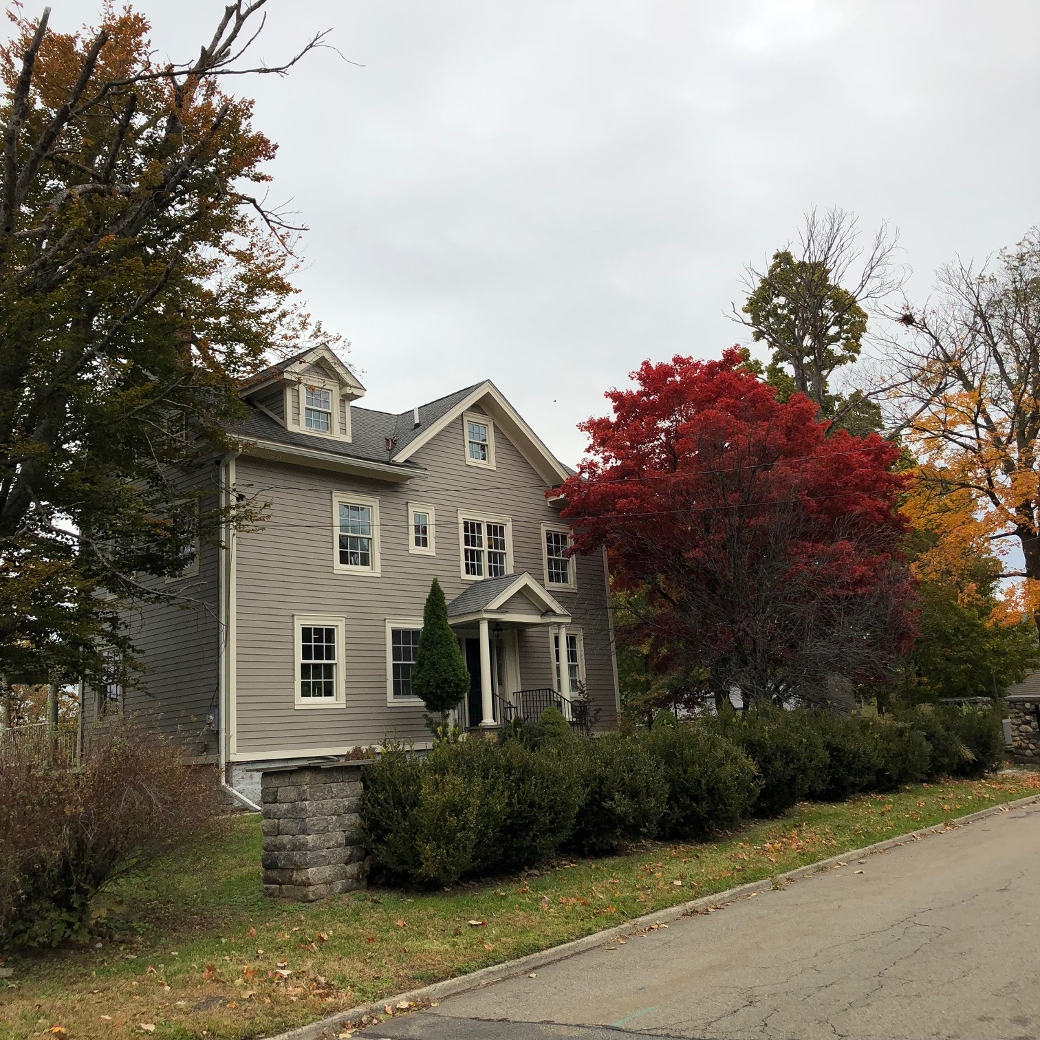 119 Howland Avenue in the fall.  Photo Credit: Katie Hellmuth Martin