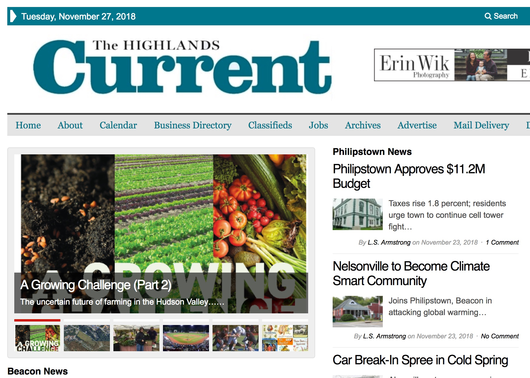 Photo Credit: Screenshot from The Highlands Current website.