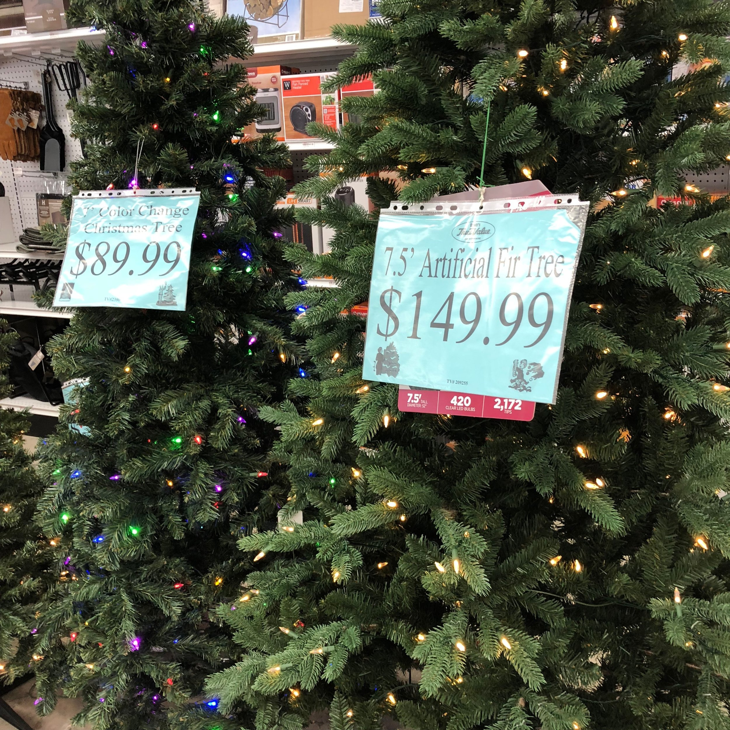 faux christmas trees.JPG