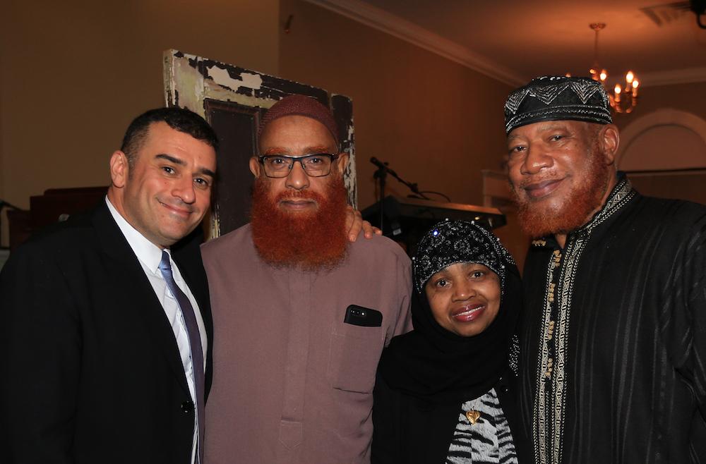 From left: Rabbi Brent Chaim Spodek, Imam Hasan MuMuin, Waheebah Wajid, and Imam Abdullah Wajid.  Photo Credit:    Frank Ritter Photography