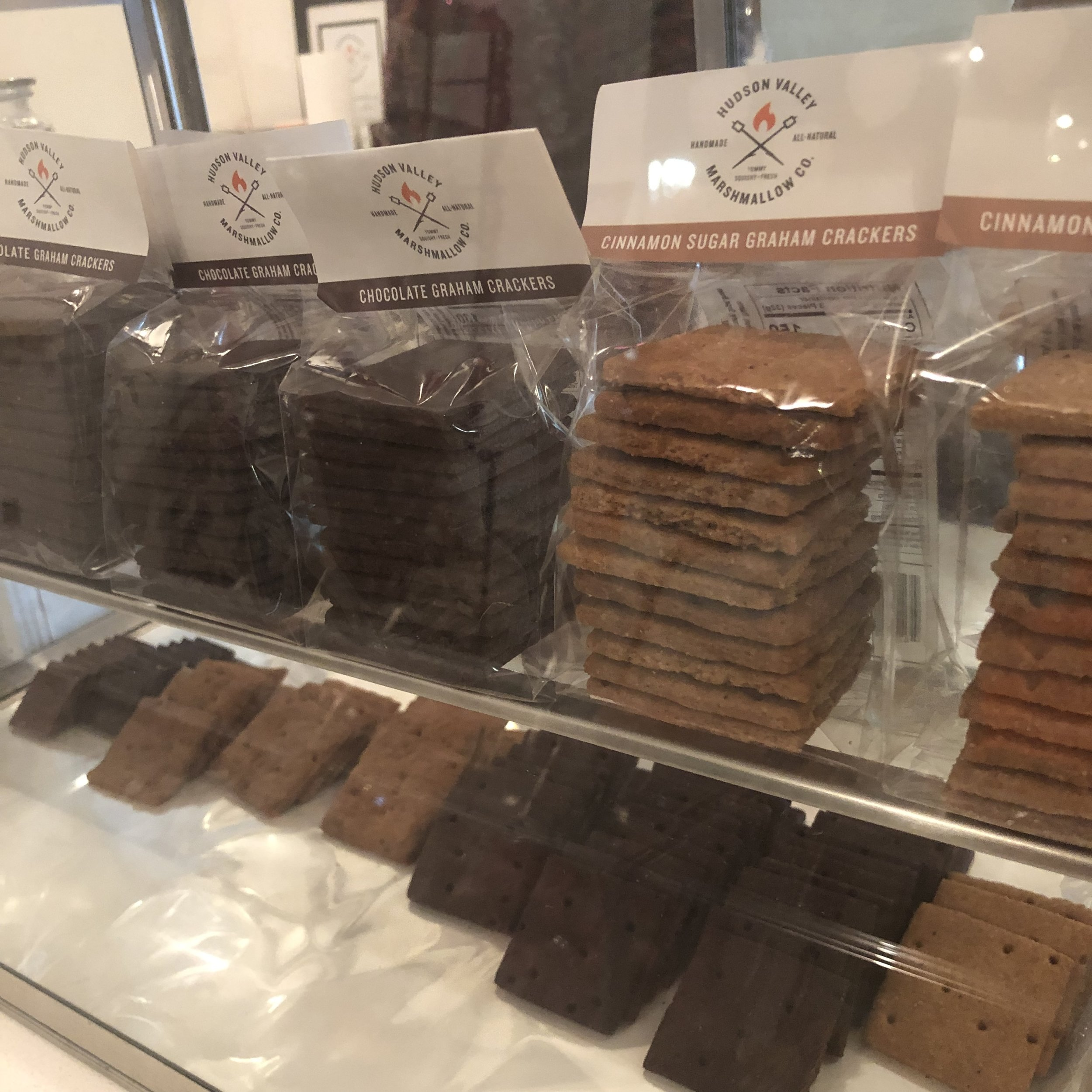 The s'more cookie crackers at Hudson Valley Marshmallow Co. These are baked right here in Beacon.  Photo Credit: Katie Hellmuth Martin