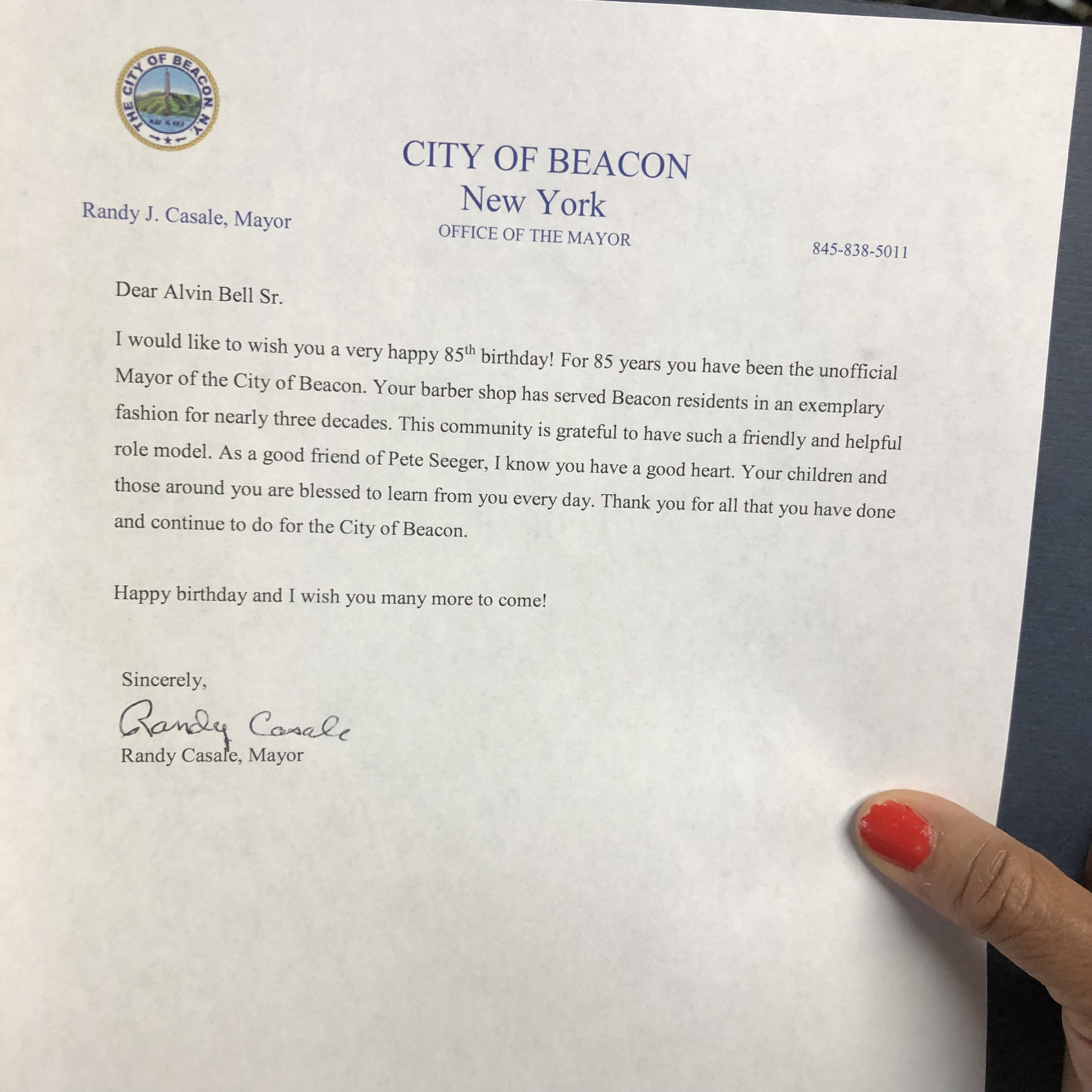 Mr Alvin Bell Letter From The Mayor 85th Birthday.jpg