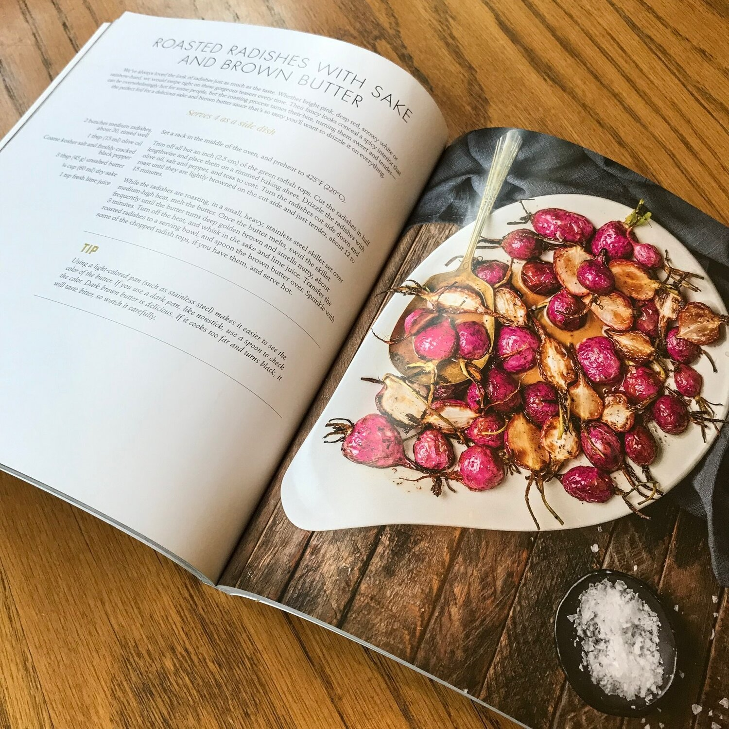 Photo of the Roasted Radish With Sake and Brown Butter recipe.  Photo Credit: Phoebe Zinman