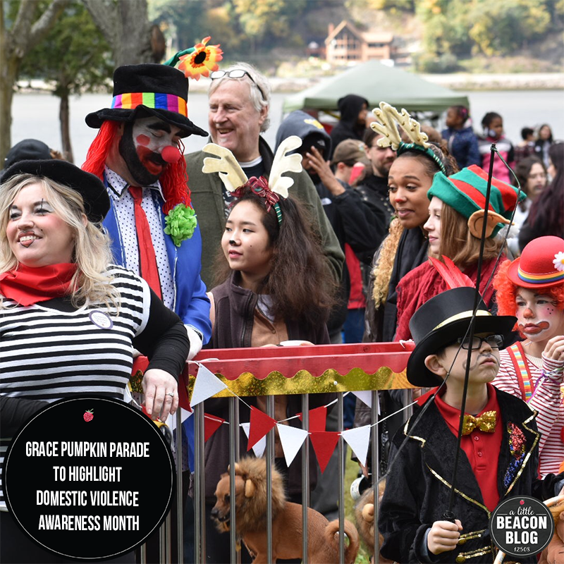 Attendees of the 2018 Grace Pumpkin Parade march into Waryas Park in the City of Poughkeepsie. (courtesy/Grace Smith House, Inc.)