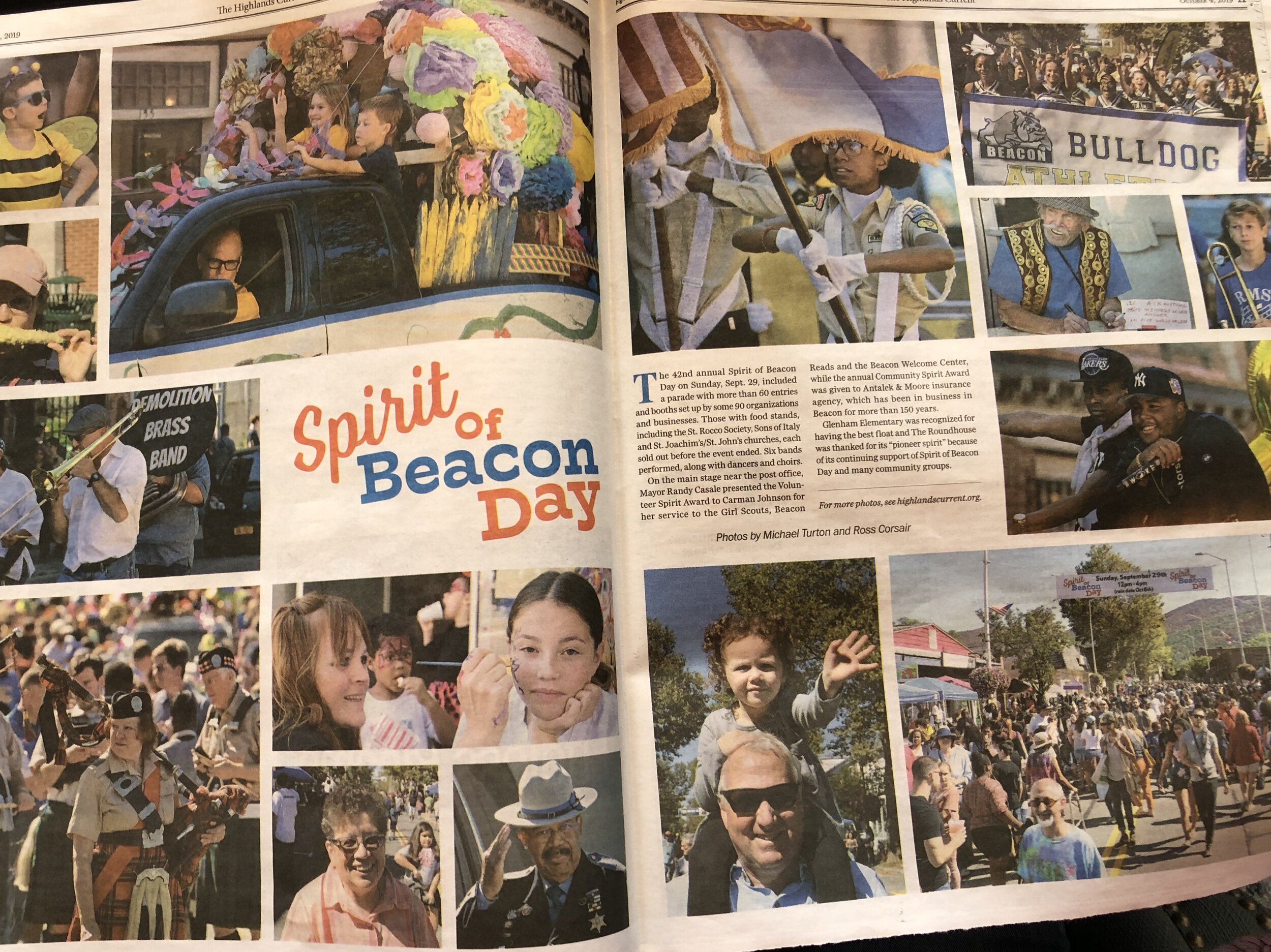Full spread of the Spirit of Beacon Day 2019 in the Highlands Current.