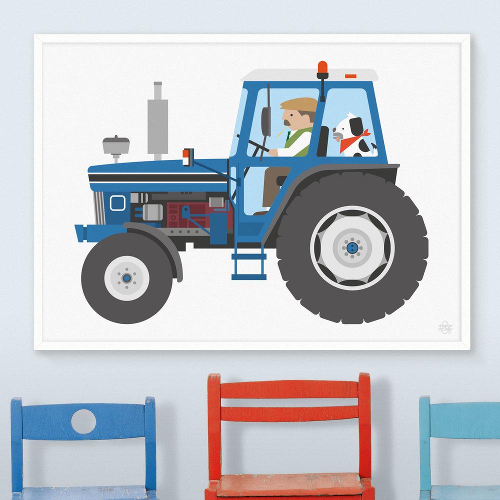 Farm Tractor Art Print Showler And Showler