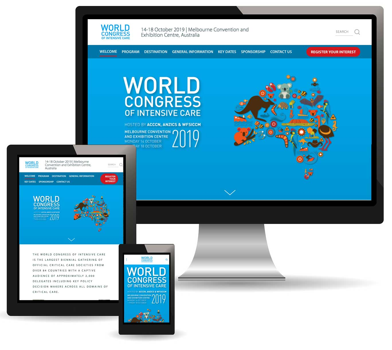 World Congress of Intensive Care 2019 Responsive Website