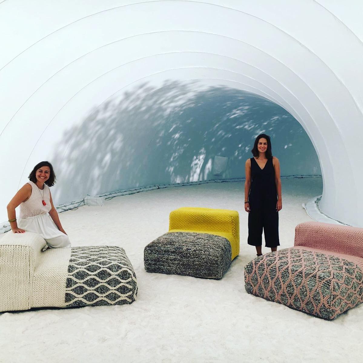 Inma and Anastasia inside LANUBE