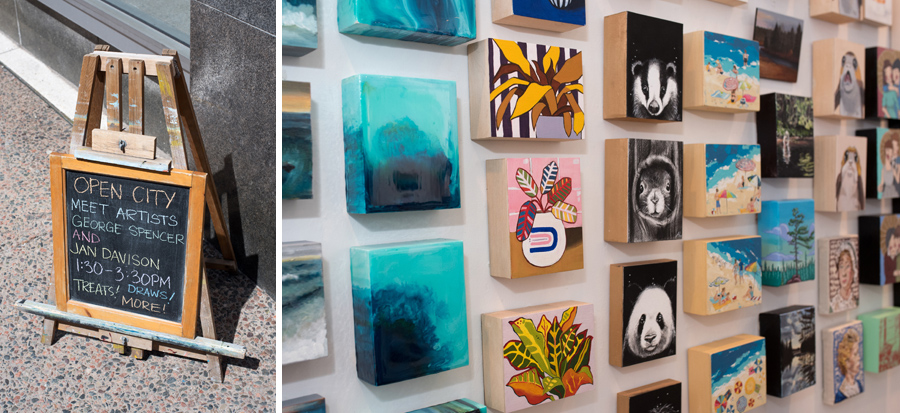 Argyle Fine Art : Artists  George Spencer ,  Jan Davidson  and  Kimberley Eddy  were onsite to chat about their artwork.