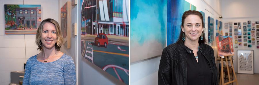 Artists Jan Davidson and Kimberley Eddy