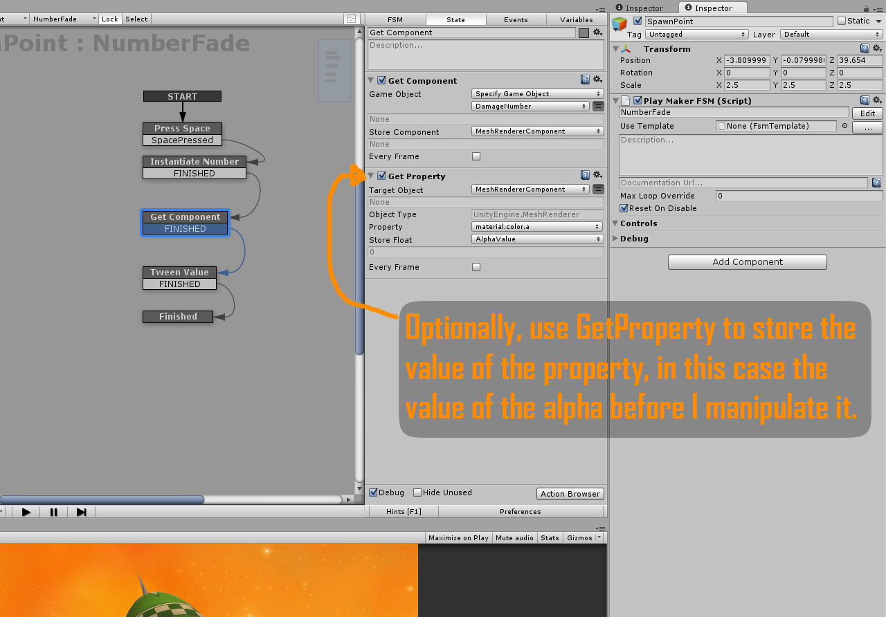 Using Get Property to refer to the Mesh Renderer variable