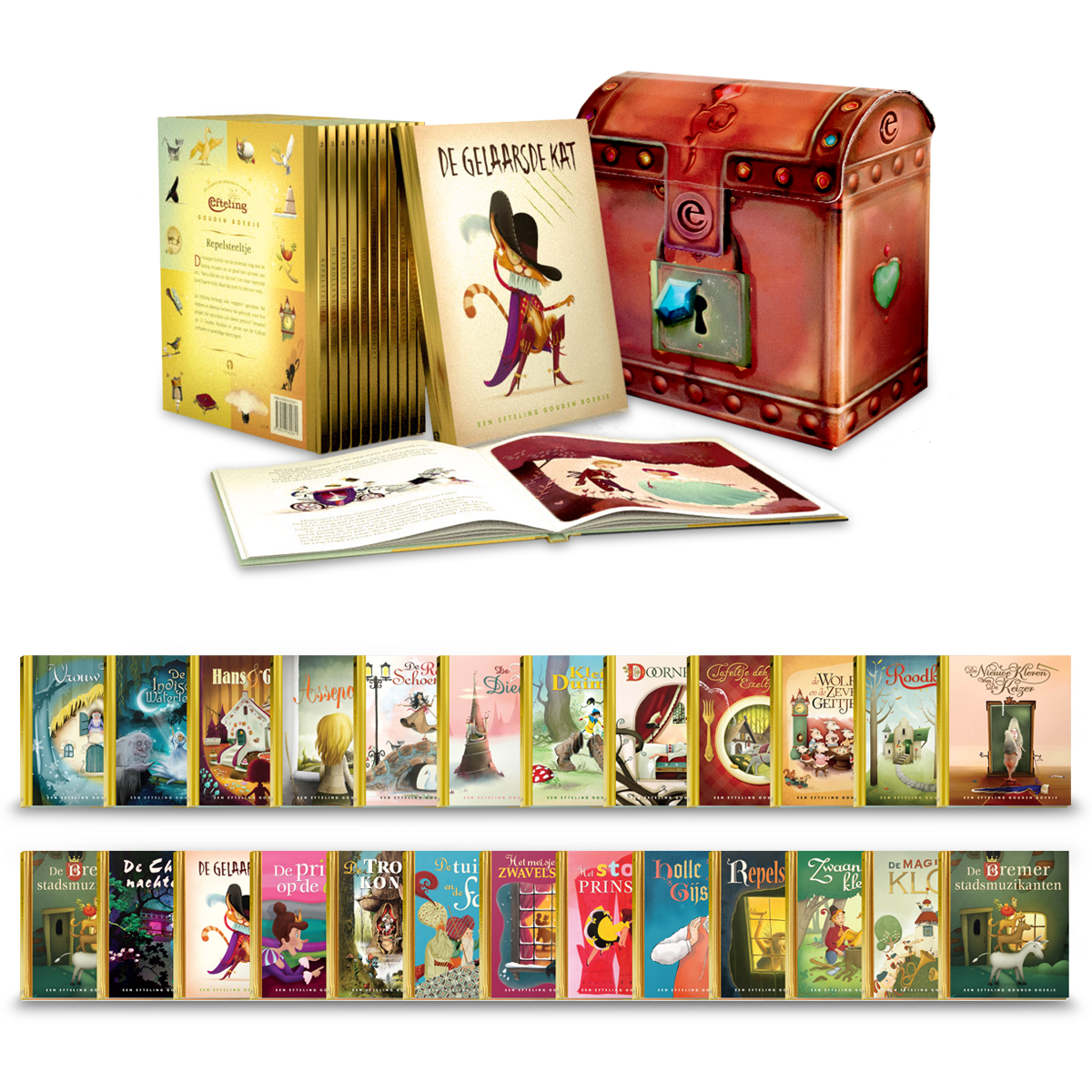 Efteling Gouden Boekjes | Rubinstein | AD | Coen Hamelink | illustrator