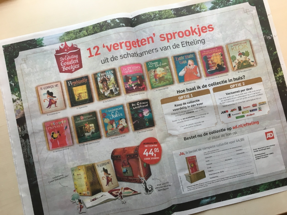 Efteling Gouden Boekjes | Coen Hamelink | AD | Voorleeskrant