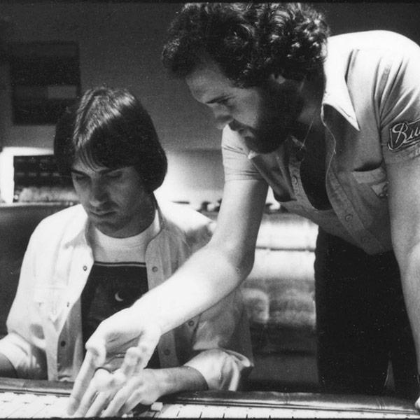 In the studio with Dan Fogelberg.
