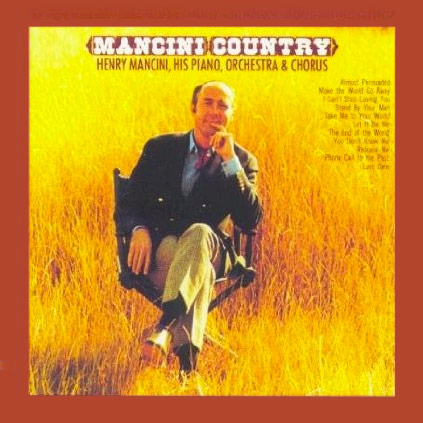 """HENRY MANCINI - """"Mancini Country""""   Putnam was honored to be selected to play acoustic bass with the great Mancini and his orchestra. Henry also took time in the midst of the recordings to share his orchestral arranging ideas. He insisted Norbert read through and discuss Henry's complicated scores with each recorded track."""