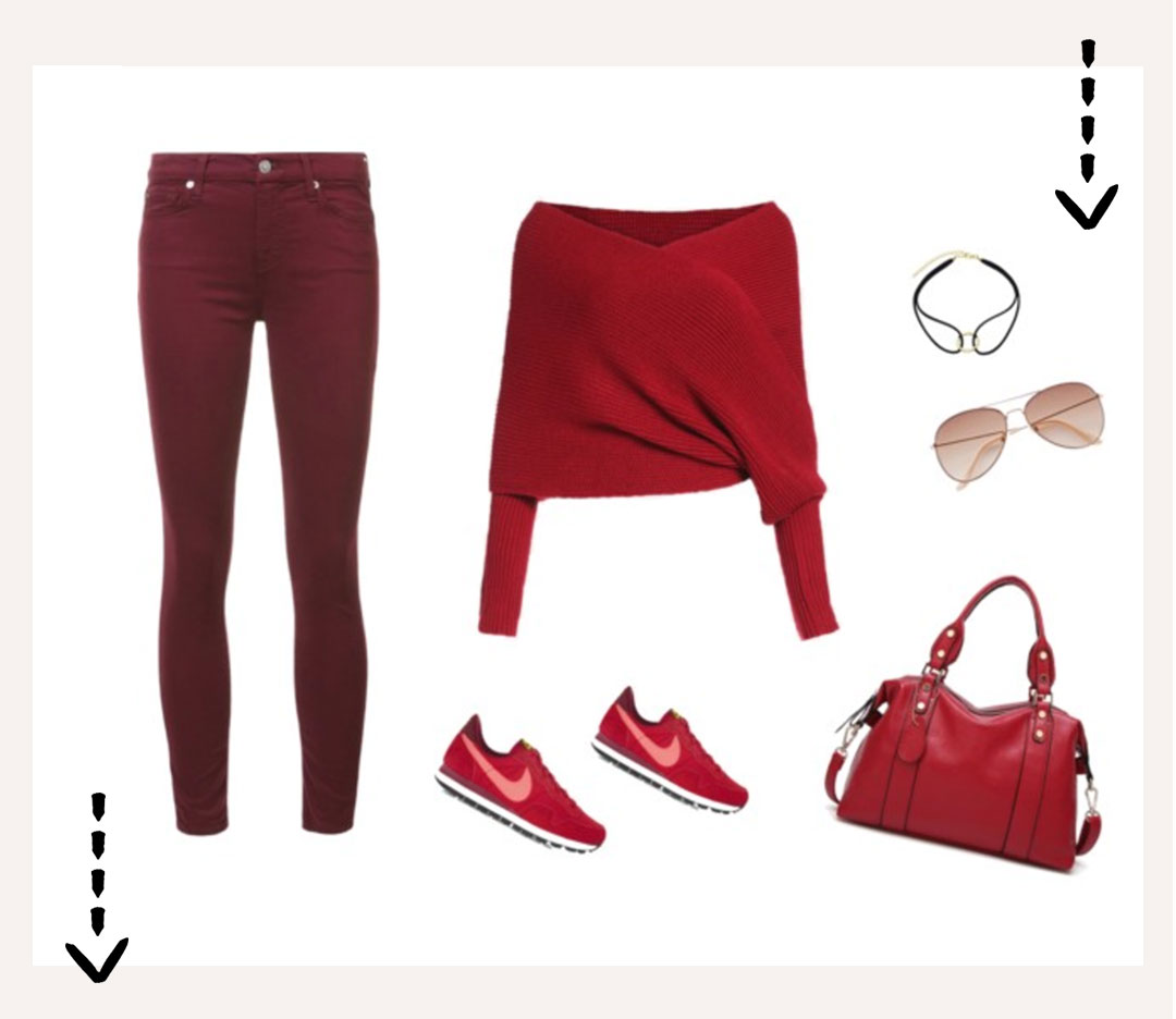Red Monochrome Look!