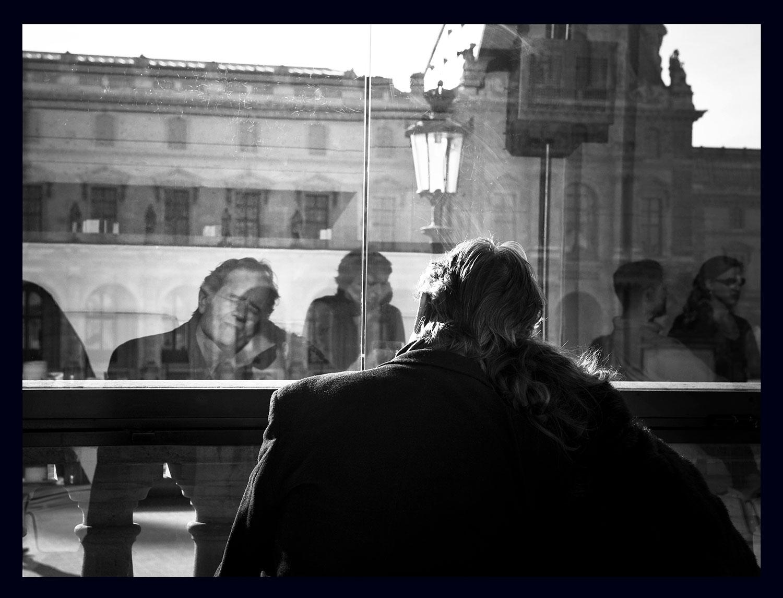 Paris Trip - Couple at the Louvre