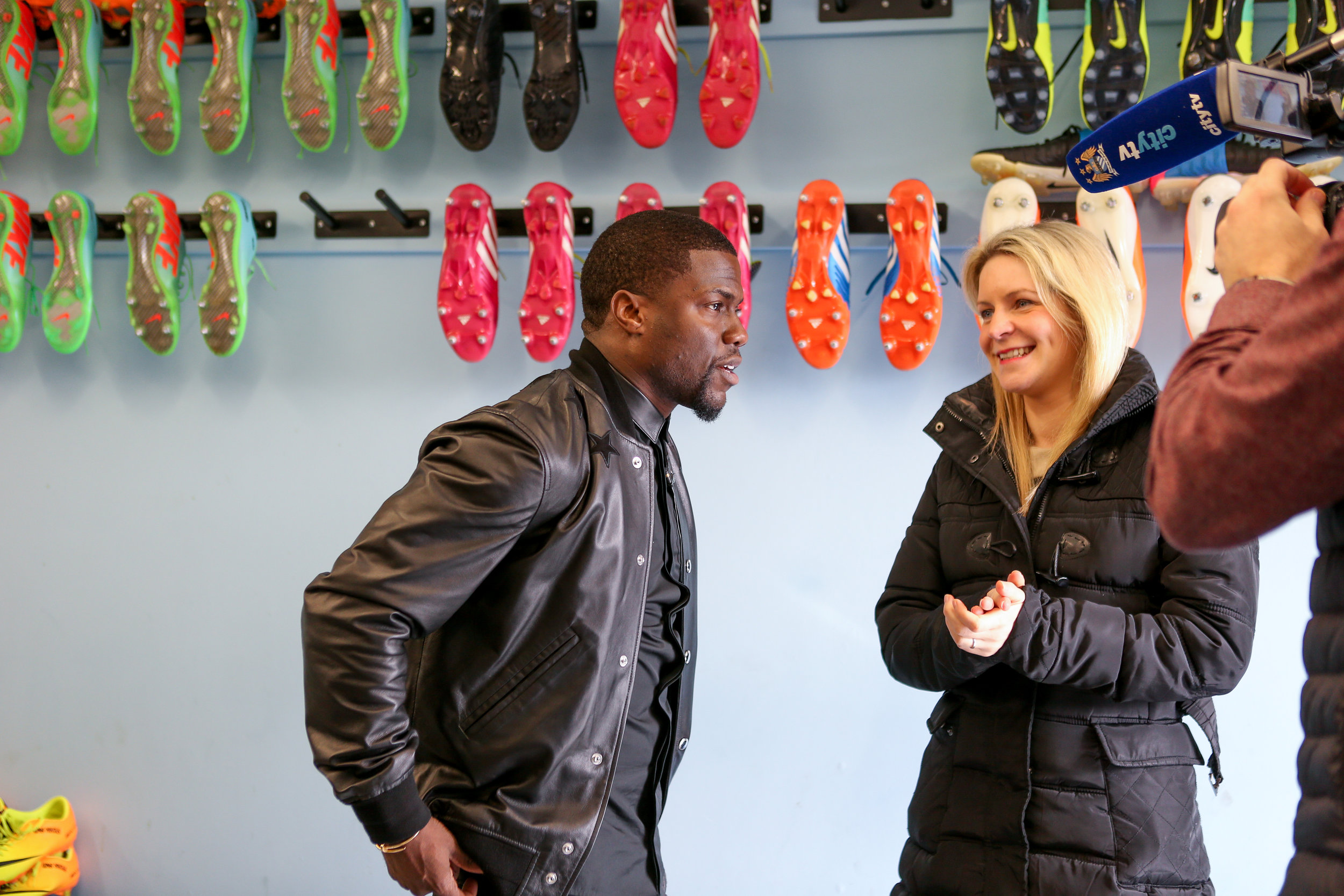 Nicola interviewing American Actor, Comedian & Producer Kevin Hart