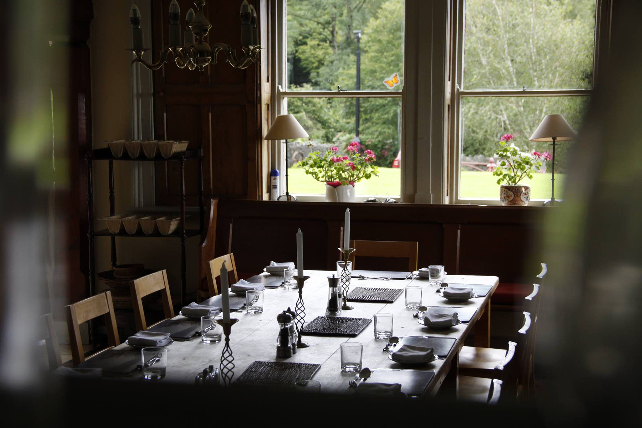 The dining space where creatives meet each evening for beautifully cooked meals