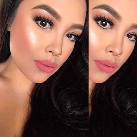 Fresh Look - Anastasia Beverly Hills: Liquid Lipstick: DOLCEAnastasia Beverly Hills: Illuminator: SO HOLLYWOOD mixed with PEACH NECTARAnastasia Beverly Hills: Brow Wiz: CHOCOLATEAnastasia Beverly Hills: Highlight & Contour PaletteCover FX: Liquid Foundation in N50House of Lashes: Iconic