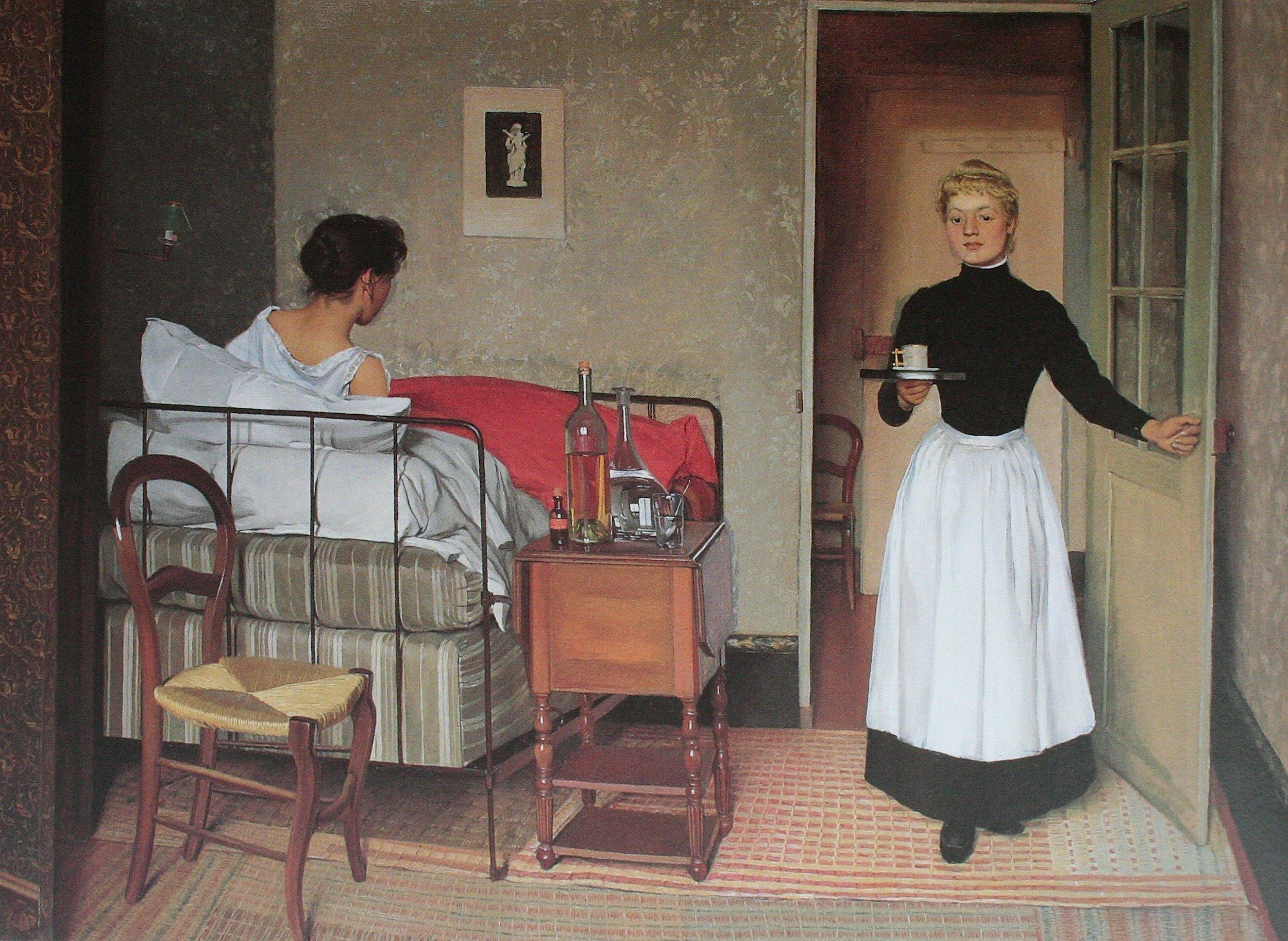 THE SICK GIRL by Felix Valloton, 1892
