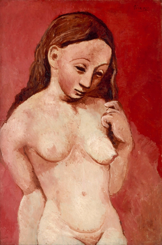 Nude Against a Red Background, 1906