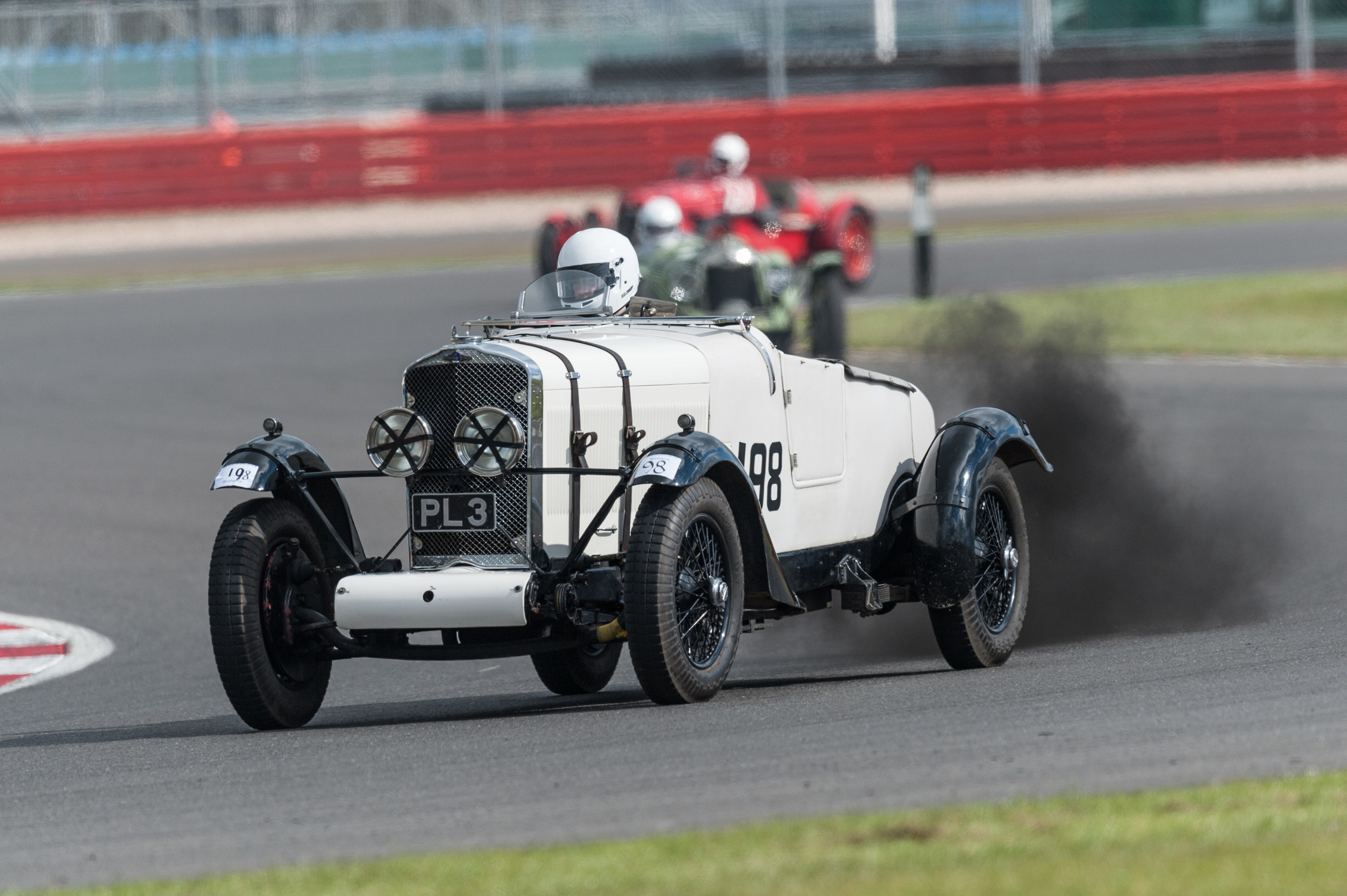 With a puff of smoke at Luffield - John Polson in the Talbot 90 -  Peter McFadyen