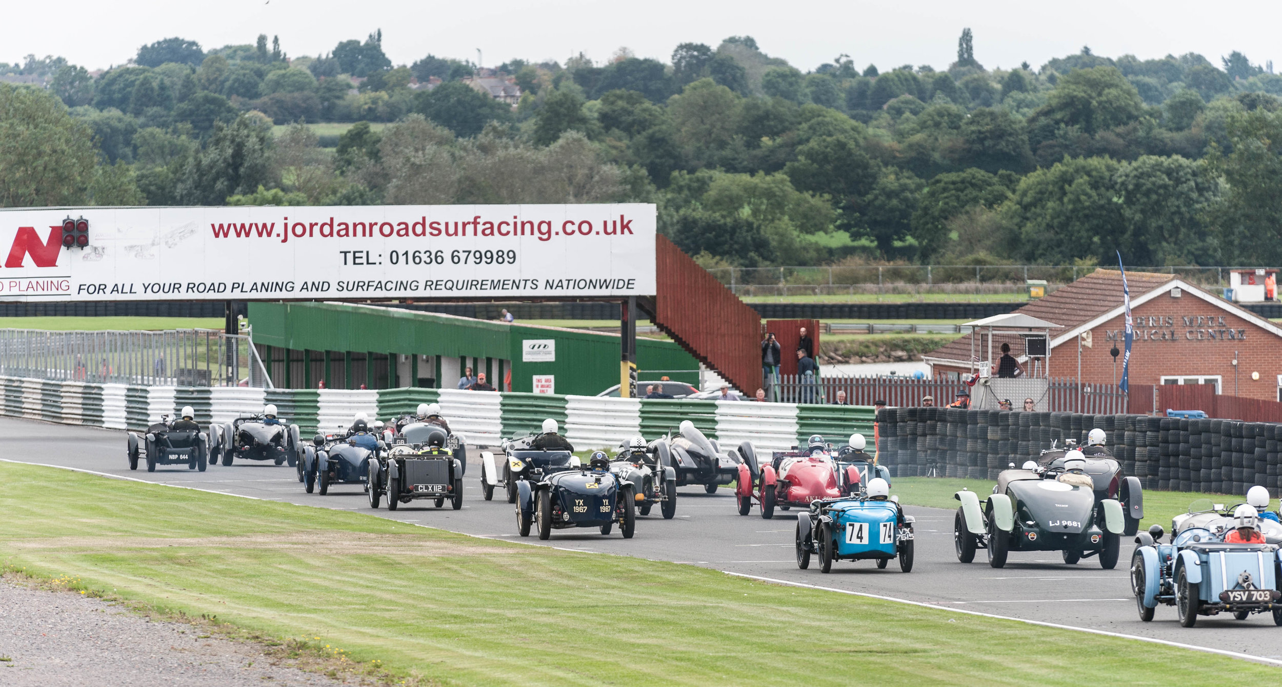 Marcus Black takes an early lead at the flag:  Peter McFadyen