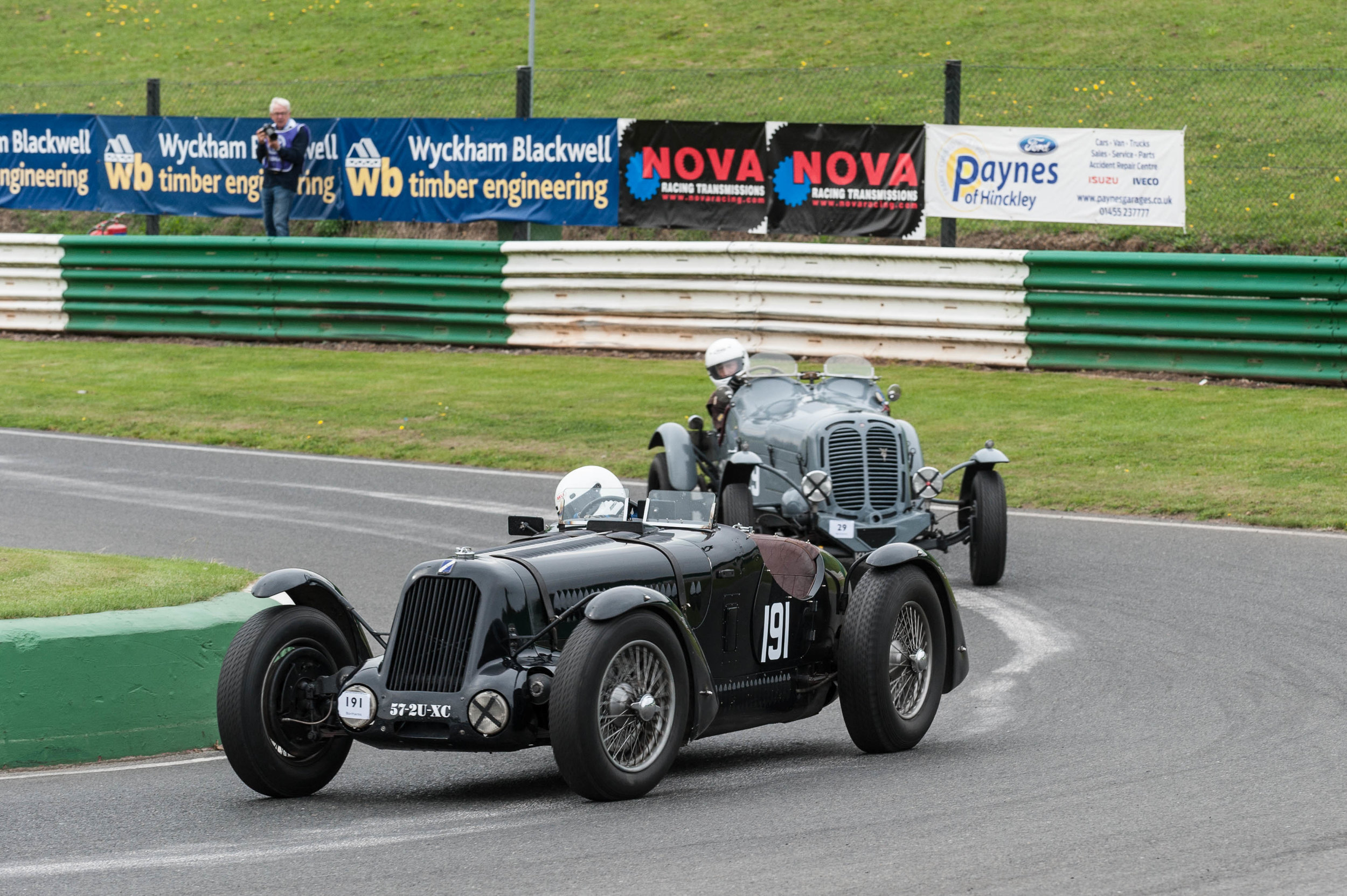 Black and Brett in the 'Blimey Ford' battle for second and third place:  Peter McFadyen