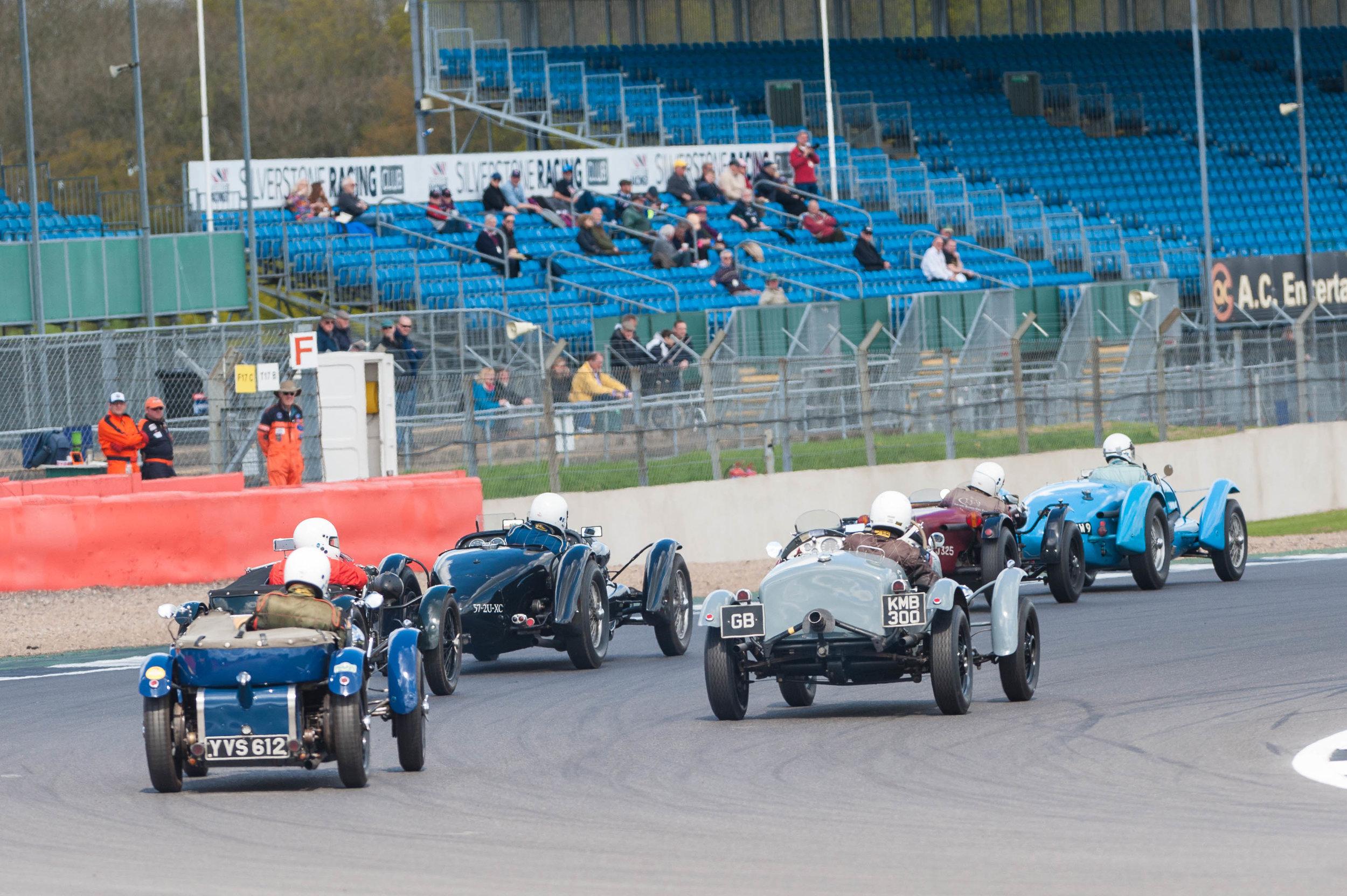 Race winner Pilkington leads Black in the Talbot Lago and Brett in the Ballamy Ford:  Peter McFadyen