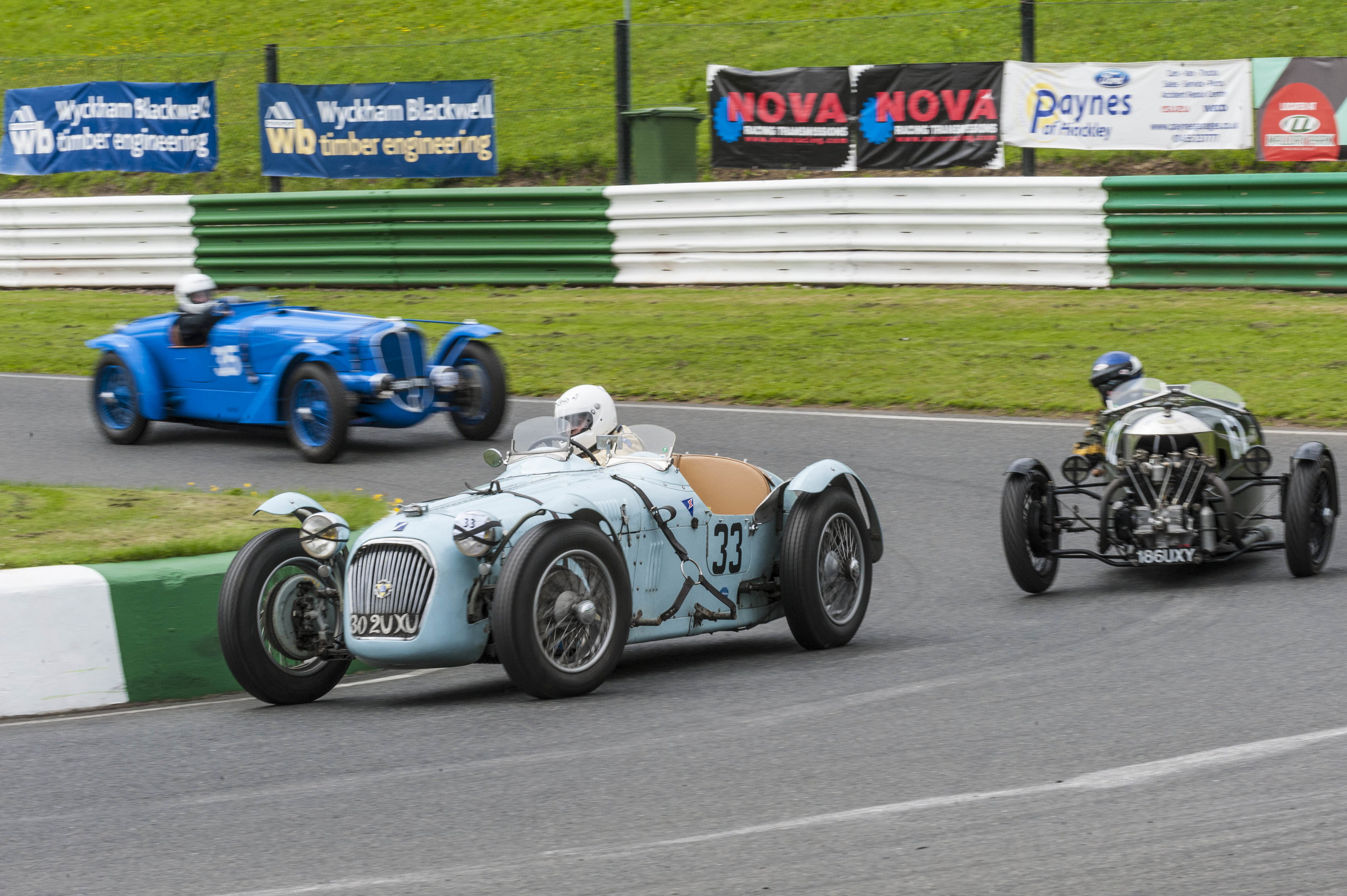 Guyatt in the Talbot Lago leading Edwards and Keeling; fourth, fifth and sixth places respectively:  Peter McFadyen