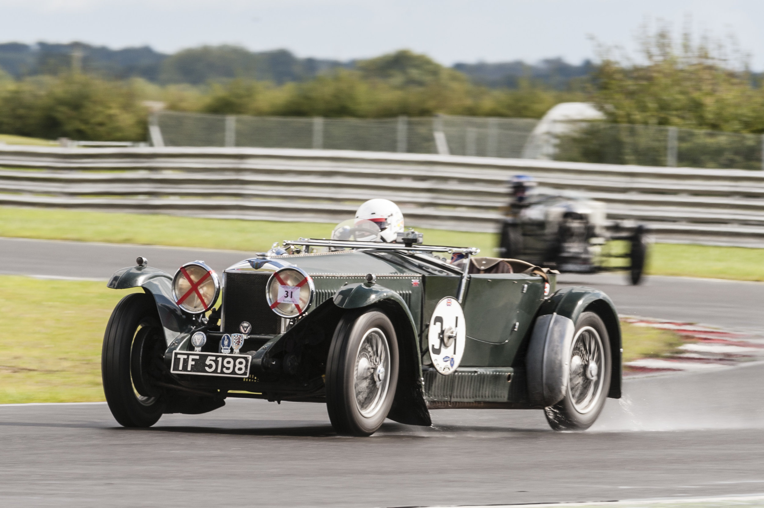 Swete in the S-Type Invicta who finished in 5th place:  Peter McFadyen