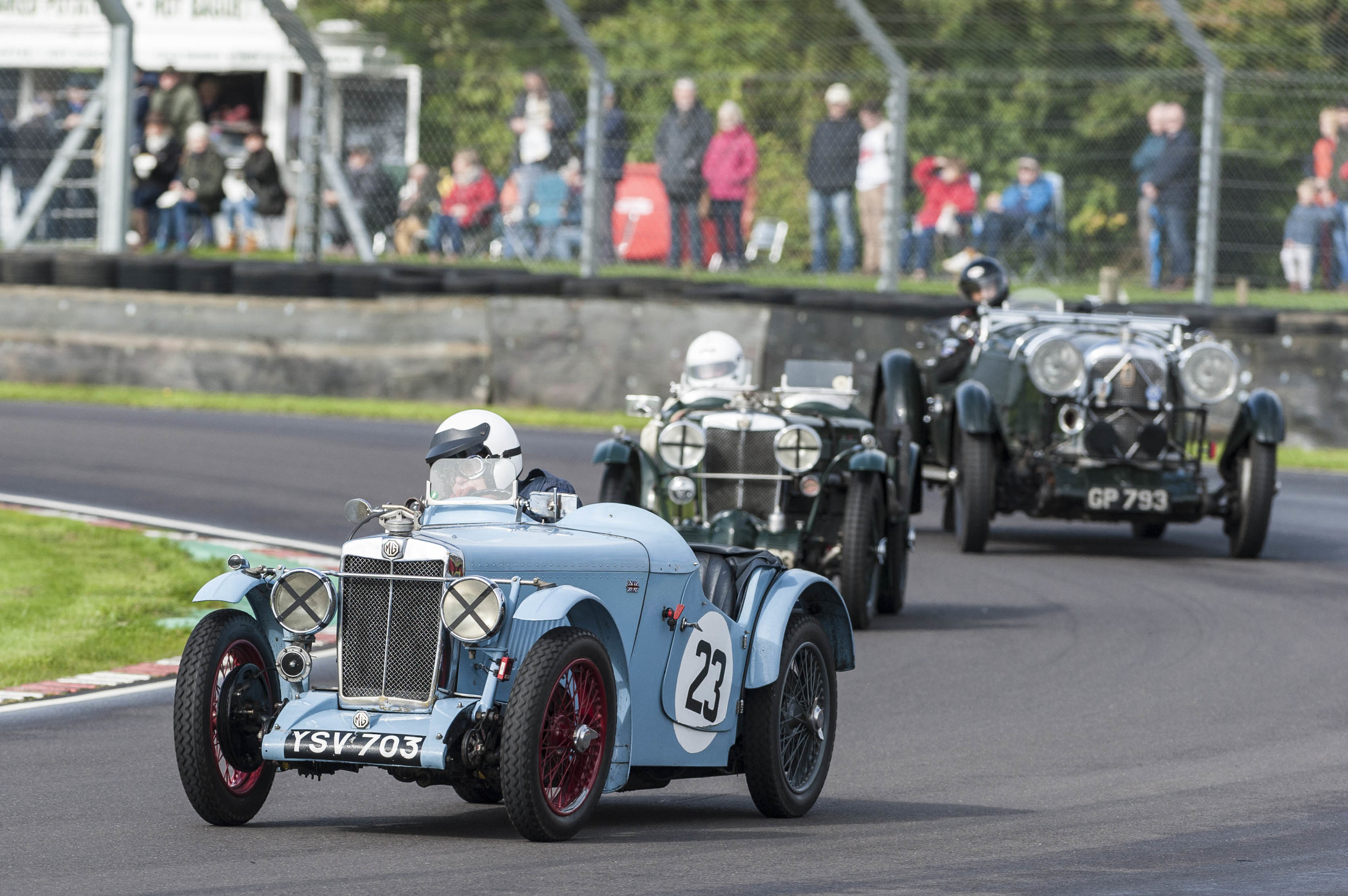 McNinch with company - Reece in the MG J4 and Wadsworth in the Lagonda (his 60th season!):  Peter McFadyen
