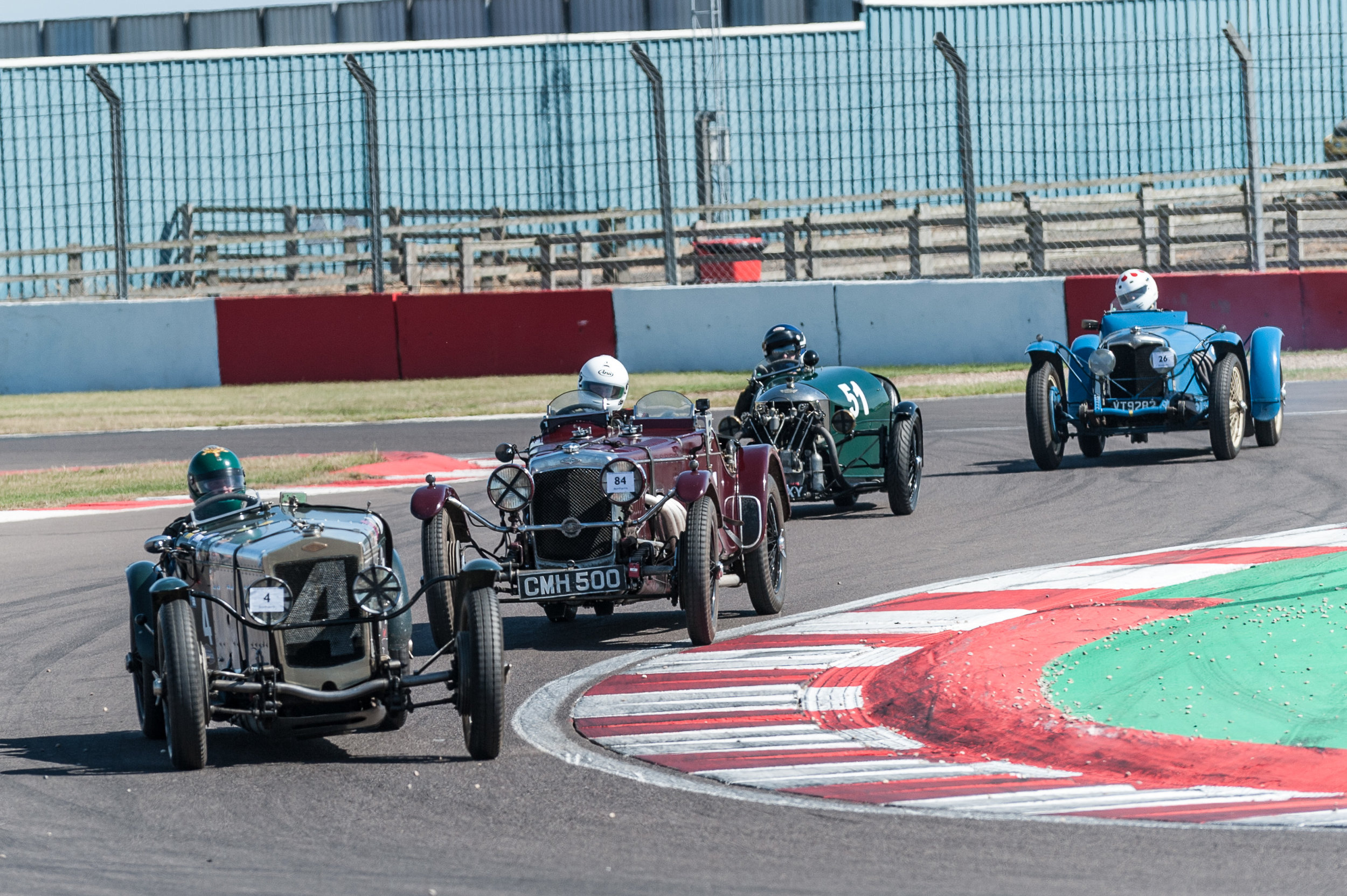 Chilcott leads Groves, Edwards and Kneller through the chicane:  Peter McFadyen