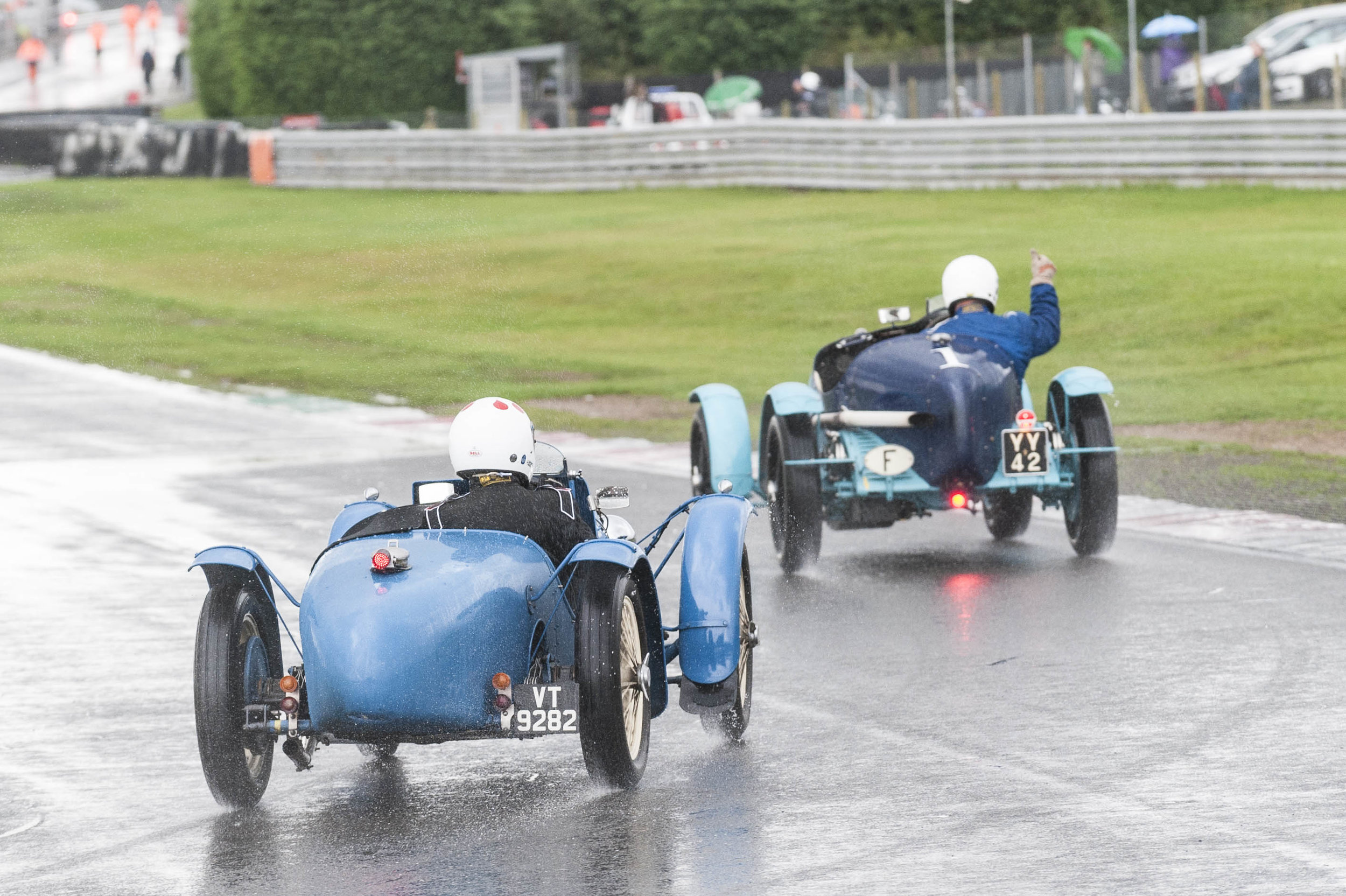 Mann in the Alfa Monza, the winner by one second from Kneller in the Riley TT Sprite rep:  Peter McFadyen