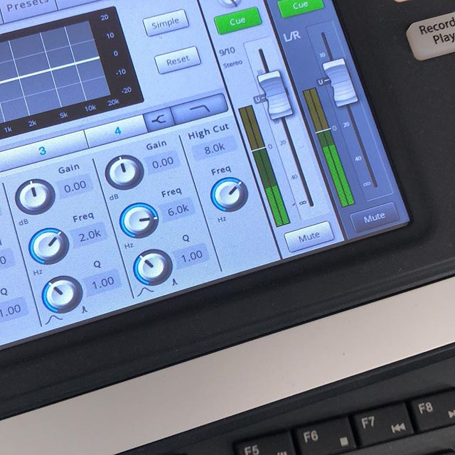 Touchscreen Digital Mixer we've integrated into one of our auditorium solutions. The future is now.