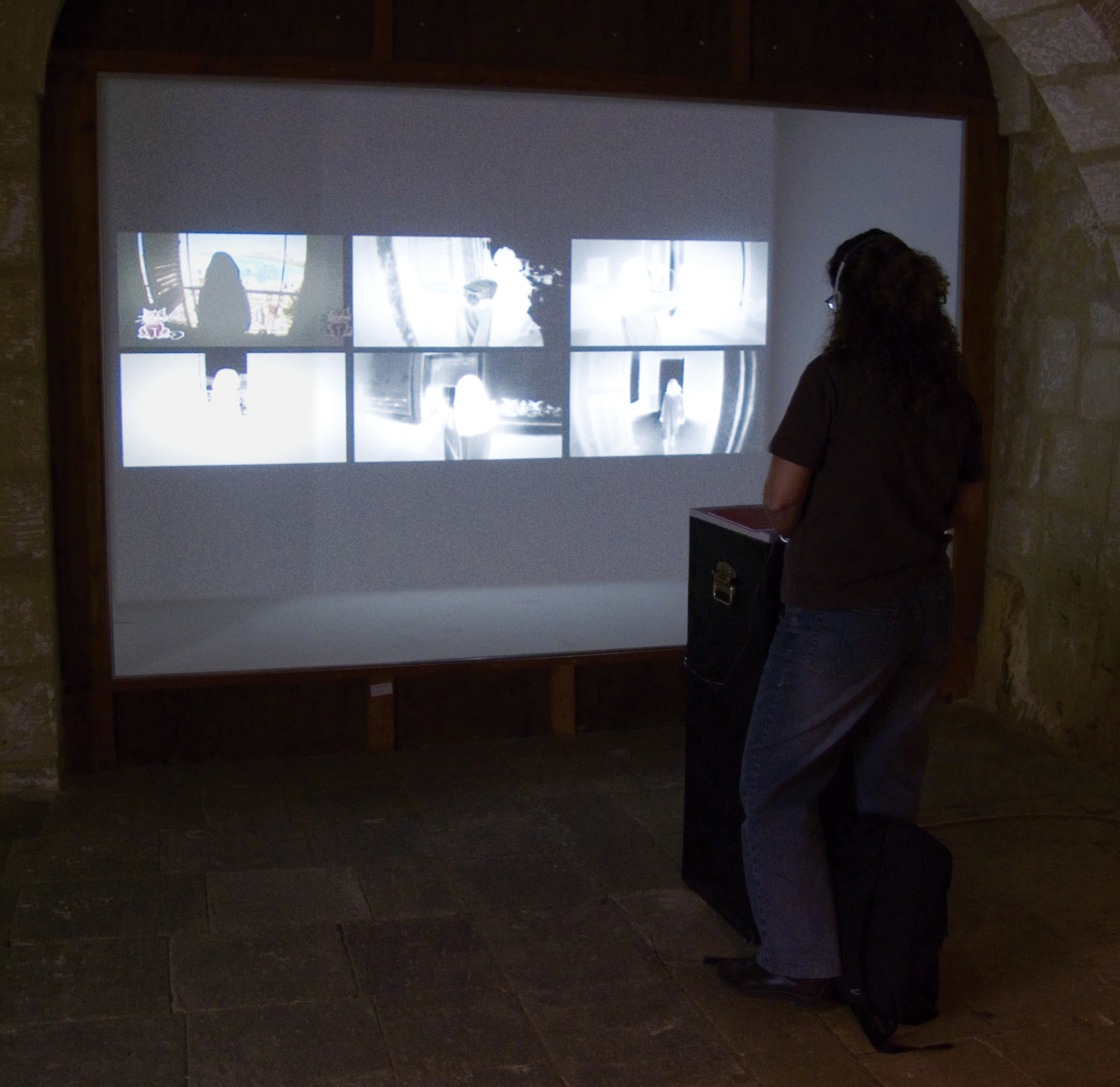 PLAYING GOD,  interactive database movie, sound  , 6collabor8, Cittadella, Gozo, Malta, 2007