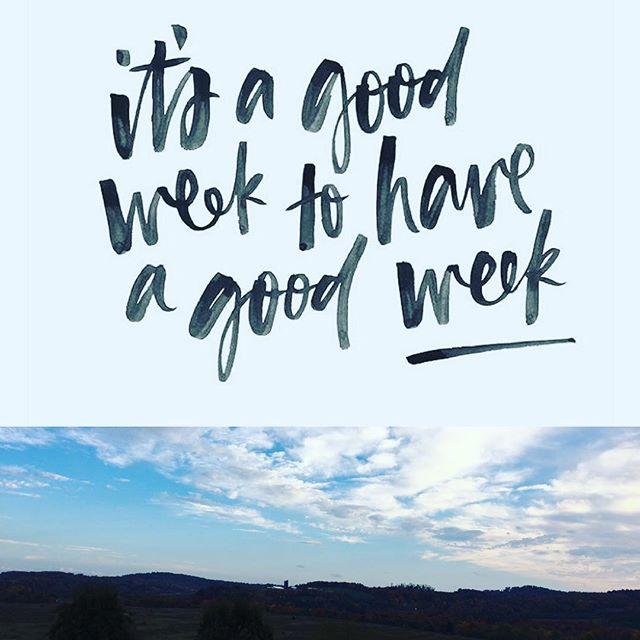 #itsgoingtobeagoodweek #goodvibes #happyhealthyactive #inspireyourlife #mondaysareanewbeginning #fall #minted #ilovemyjob #staypositive