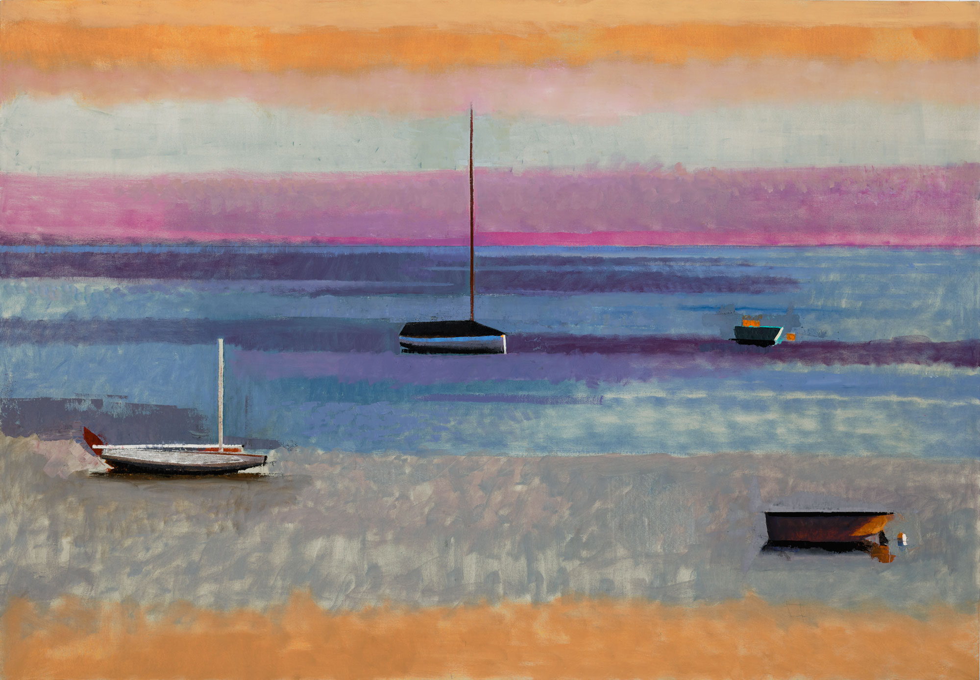 FOUR BOATS 50X72