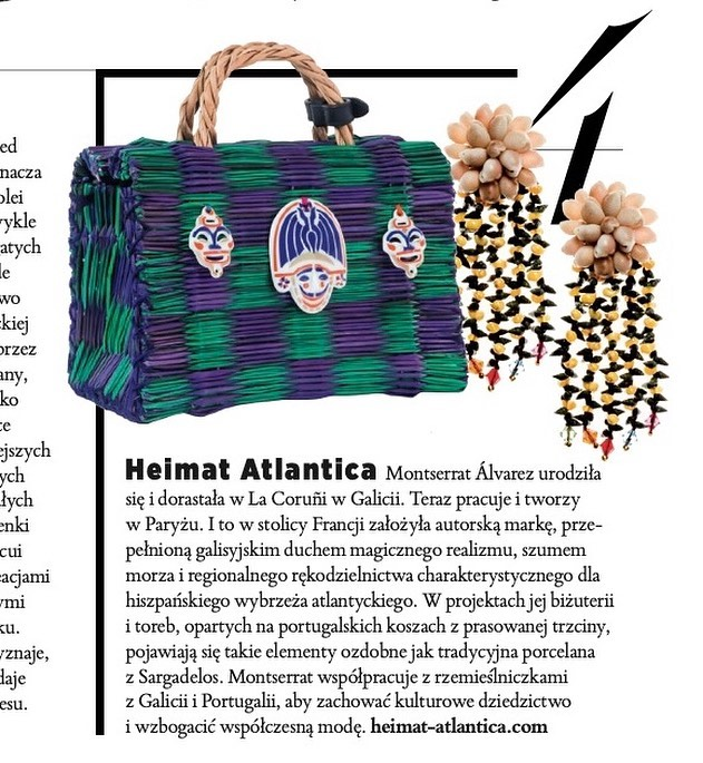 WHAT A COUPLE FEATURED at @harpersbazaarpolska ‼️💥🌹‼️ WE ARE ONE OF THE 🇪🇺 BRANDS TO DISCOVER ON MAY ISSUE 🙏🏻💞🐚👛💃🏻 MERCI @kara_becker & @mayaheathrow 👭💓 #heimatatlantica #heimatbag