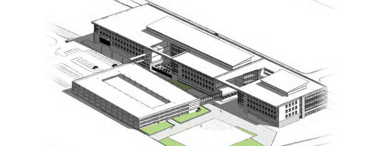 Conceptual drawing of potential Passport Health Plan headquarters.