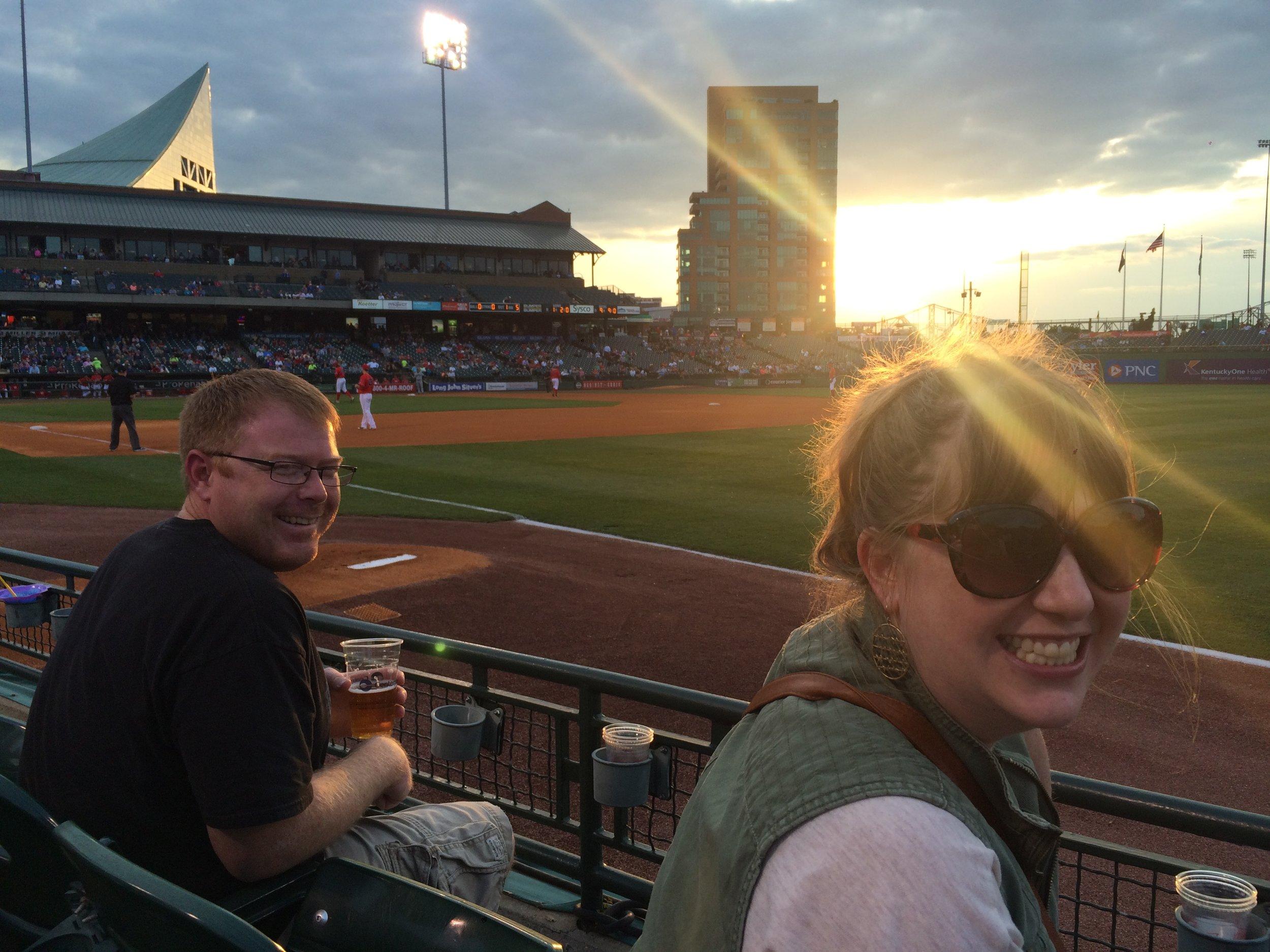 TJ and Meghan at Bats.JPG