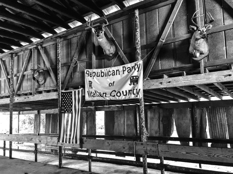 Annual Republican Barn Party and BBQ site on Nunnally Farm