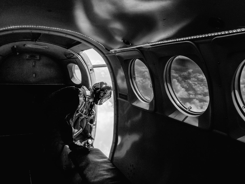 Skydive Monroe skydivers someone over Monroe