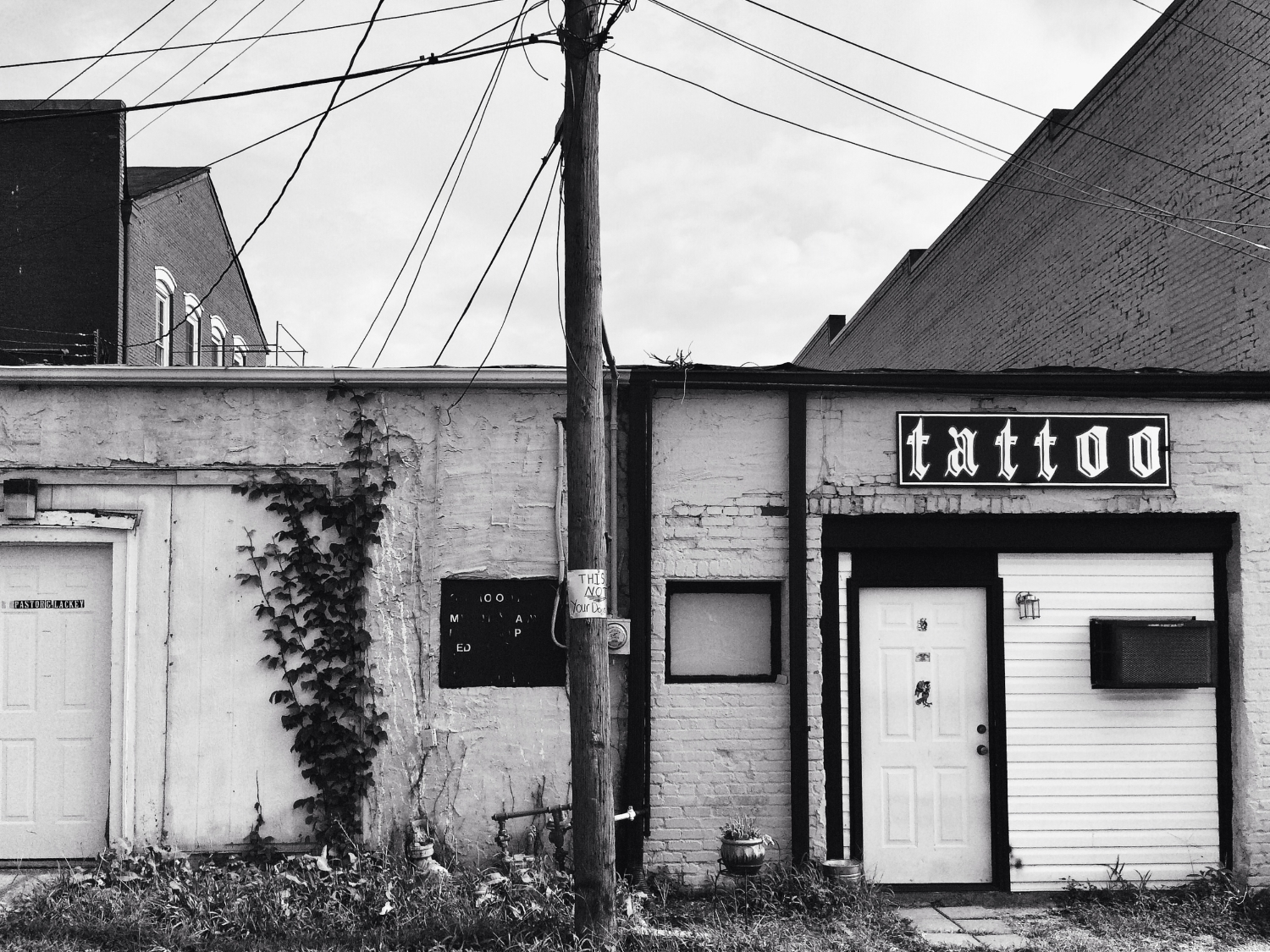 A door in to the pastor or tattoo artist on North Wayne Street