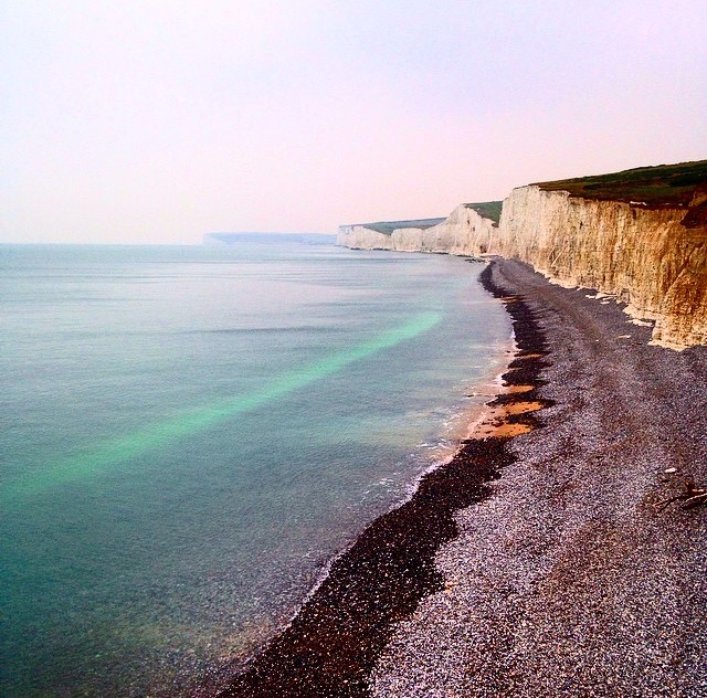Birling Gap Beach in East Sussex, England