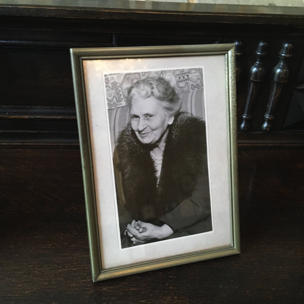 Dr. Maria Montessori, in a photo on view at the AMI Headquarters in Amsterdam