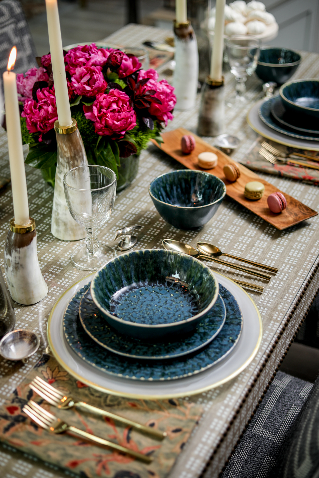 Tablescape-Modern-Textiles-Floral-Green-Gold-Candles.jpg