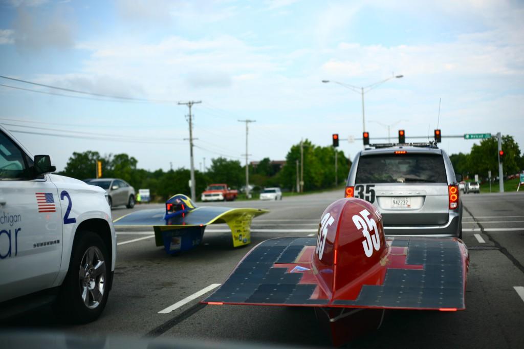 Centaurus III pulls up to Quantum at a stoplight leaving Omaha, NE.