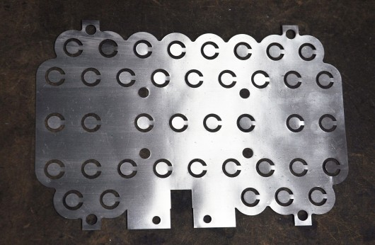 Nickel plate cut by Diamond Metal Products